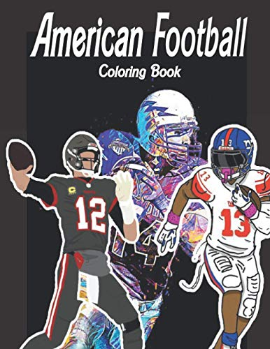 American Football Coloring Book: For adults , 100 PAGES (8.5'x11') inches