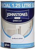 Johnstone's 303900 One Coat Gloss Brilliant White, 1.25L