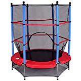 COSTWAY Trampolin mit Sicherheitsnetz | Gartentrampolin | Kindertrampolin | Fitness Trampolin |...