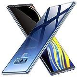 Peakally Funda Samsung Galaxy Note 9, Transparente Silicona Funda para Samsung Galaxy Note 9 Carcasa Flexible Claro Ligero TPU Fundas [Antideslizante] [Resistente a arañazos] -Transparente