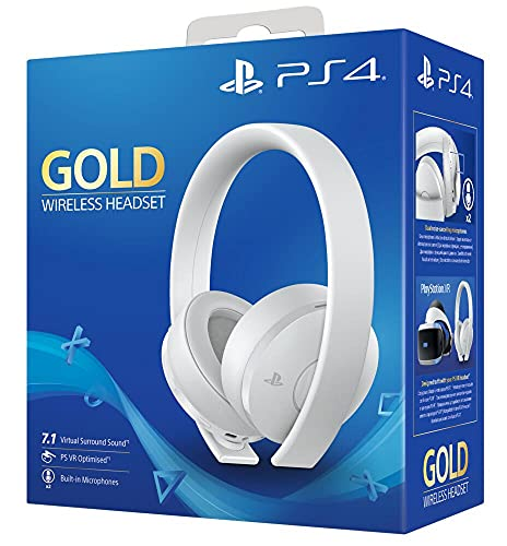 Sony - Auriculares Gold Inalámbricos, Color Blanco (PS4)