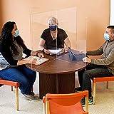アクリル板 透明 プレキシガラスくしゃみガードcrylic   共有テーブル用の4人用ディバイダーシールド  シンプルなインターロックアセンブリ  に最適,120cm*60cm*60cm