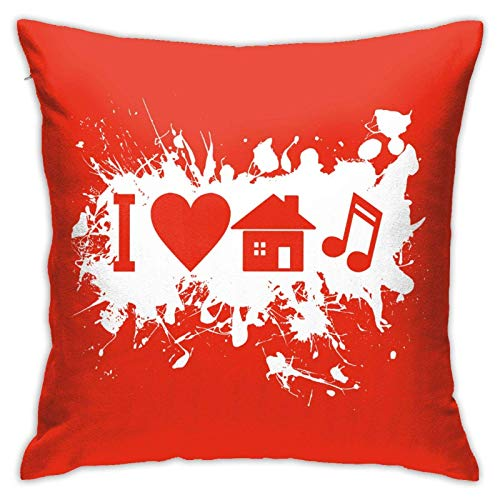 45x45cm Funda Throw Pillow Case Almohada Cojín Me Encanta música Fundas colchón Cojines Decorativa Cuadrado sofá