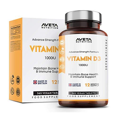 Vitamin D3 365 Days Supply   1000IU Vitamin D Supplement   High Absorption Cholecalciferol Vitamin D