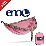 ENO, Eagles Nest Outfitters DoubleNest Camo Lightweight Camping Hammock, 1 to 2 Person, Realtree Edge: Rose