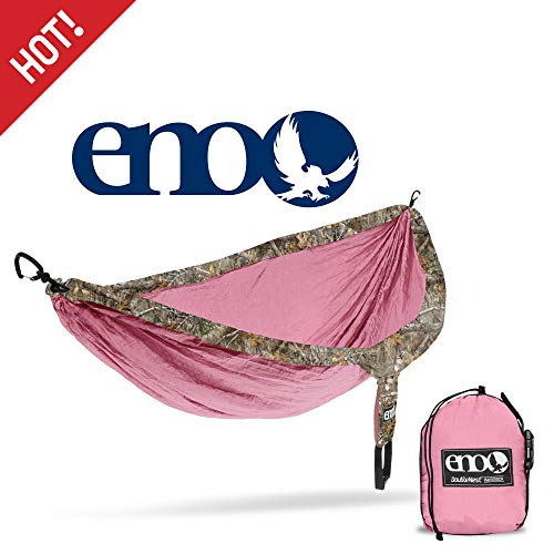 cheap ENO, Eagles Nest Outfitters DoubleNest Camo Light Camp Hammock, 1-2 people, Realtree…