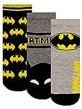 dc comics Calcetines Paquete de 3 para Niños Batman Multicolor 37-40
