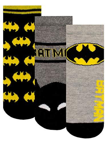 DC Comics Jungen Socken Packung mit 3 Batman Mehrfarbig 31-36