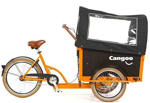 Transportrad Tangoo-Groovy schwarz-organge 7 Gang
