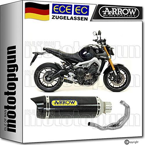 ARROW - Juego completo de cables de fibra de carbono con termostato CC compatible con Yamaha MT 09 2013 2014 2015 2016 2017 2018 71812MK+71620KZ