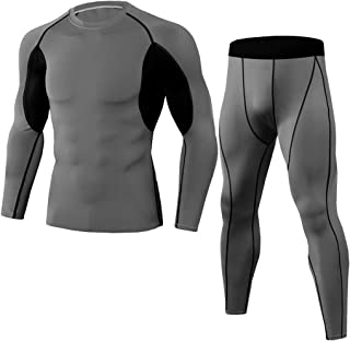 ZSQAW Winter MenThermal Underwear Comfortable and Breathable Basic Layer Thermal Underwear Sports (Color : F, Size : M code)