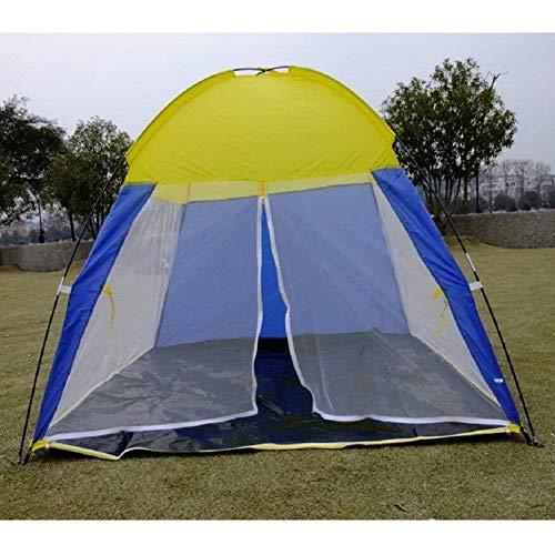 Jie Guo Outdoor producten Outdoor reistent, vrijetijdsstrandtent, home mesh garen, anti-muggentent, eenlaagse tent, glasvezel en ronde tenten