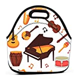 Lunch Tote Bag Cute Lunch Box Lunchbox Large Reusable Lunch Bag musical...