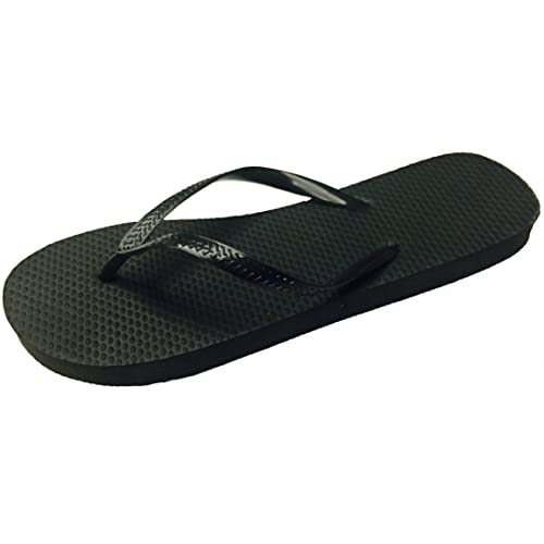 7e98e208da29a Wholesale Ladies Solid Black Flip Flops