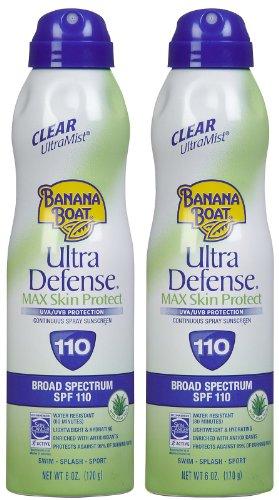 Banana Boat Ultra Defense SPF 110 Max Skin Protect Continuous Spray Sunscreen