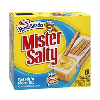 Kraft Handi-Snacks Mister Salty Pretzels  n Cheese Dip Snack