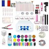 Vendedor francés: kit de manicura 4 XL para lijadora lámpara de gel UV para uñas postizas, profesional o principiante.