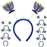 Iconikal Hanukkah Headband Boppers, Menorah, 8-Pack