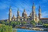 Puzzles para niños Rompecabezas de 300 Piezas Iglesia de Zaragoza 300 Puzzles de Madera Descompresión para niños Adultos Regalos de cumpleaños