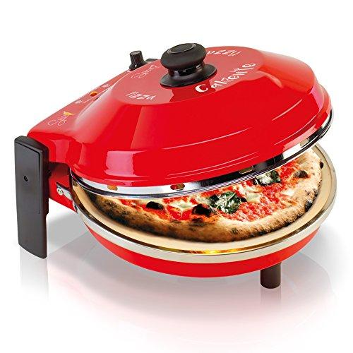 Spice–Horno Pizza Diavola y Caliente con piedra refractaria 400grados. Resistencia circular Pietra 32 CM Rosso Spice