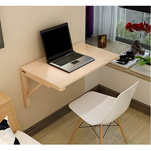 Massivholz Wandklapptisch-Tische-Wandtisch Tisch Computertisch,Küche Esstisch,Kindertisch,Wandmontierte Werkbank,15 Größen,für Kleine Räume,Schlafzimmer,Badezimmer oder Küche (60 * 40cm/24 * 16in)