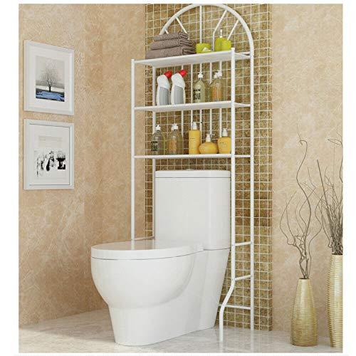 ebtools mueble estantería parte superior baño WC 3estanterías mueble de almacenaje para cuarto de baño (capacidad de carga máxima: 25kg práctica elegante color blanco