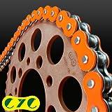 CYC カラーチェーン 428-130L シールチェーン 蛍光オレンジ TW225 ('02)