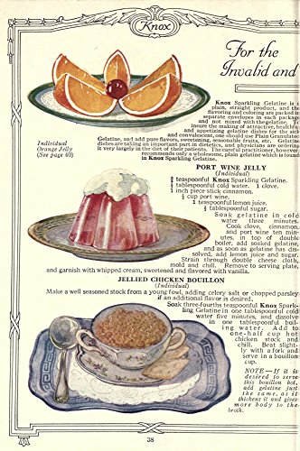 Dainty Deserts for Dainty People c1915 Orange Jelly Port Wine Jelly & Chicken Bouillon Poster Print (18 x 24)
