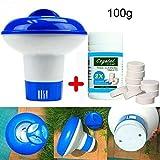 æ— 100pcs Chlorine Tablets Pool Cleaner,Swimming Pool Chlorine Tablets Disonfectant Pool Supply Pool