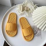 QPPQ Zapatillas de Ducha,Zapatillas de Moda de Verano, Sandalias de baño Antideslizantes.-Amarillo 2_36-37,Mujere Hombre Chanclas
