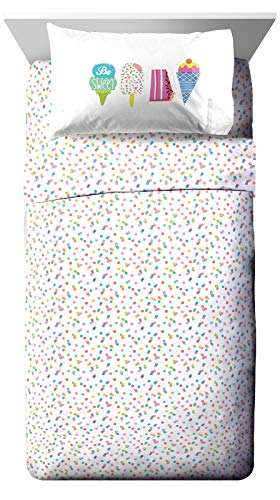 Jay Franco Trend Collector Be Sweet Twin Sheet Set - 3 Piece Set Super Soft and Cozy Kid's Bedding - Fade Resistant Microfiber Sheets