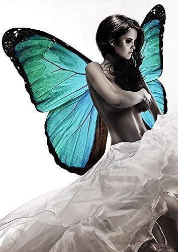 Keilrahmen-Bild – Julian Lauren: Winged Beauty I Detail Leinwandbild Frau Mädchen Flügel modern