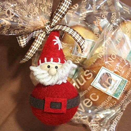 ちょっとレトロなサンタのマスコットと和歌山産フルーツの焼き菓子クリスマスギフトバッグ