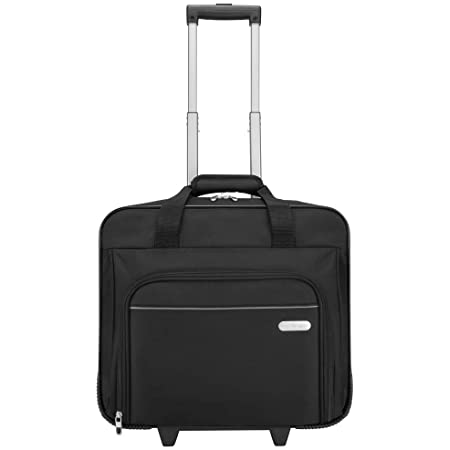 Targus Executive Premium Roller Bag Designed for Business Professional Travel and Commuter Briefcase fit up to 15.6-Inch, Black (TBR003EU)