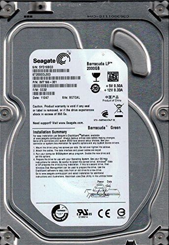 Preisvergleich Produktbild Seagate ST2000DL003 F / W: CC32 P / N: 9 vt166301 bgtcal 2 TB