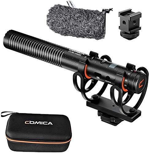Comica CVM-VM20 ショットガンマイク スーパーカーディオイドコンデンサーマイク 2つのローカットフィルタ...