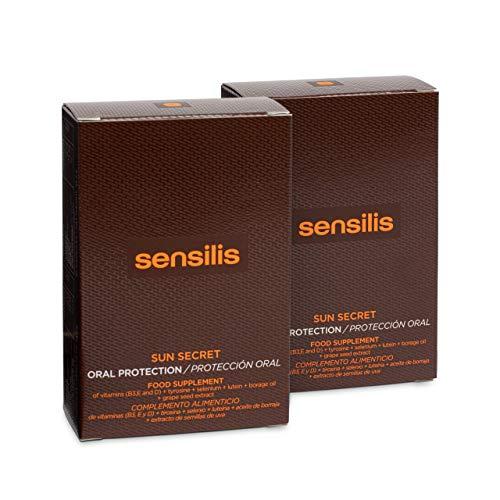 Sensilis Sun Secret - Complemento Alimenticio de Protección Solar vía Oral - Pack de 2 cajas de 30 Cápsulas