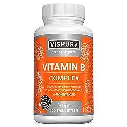 ✔ COMBINAISON IDÉALE : notre complexe de vitamines B à fort dosage avec les 8 vitamines B essentielles : B1 (thiamine), vitamine B2 (riboflavine), B3 (niacine), B5 (acide pantothénique), B6 (pyridoxine), B7 (biotine), B9 (acide folique), B12 (méthylc...