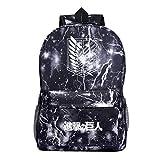 KIACIYA Mochila Anime Attack on Titan, Shingeki No Kyojin Scout Regiment Levi·Ackerman Anime Cosplay Mochila Escolar Galaxia Estudiante Bolsa de Gran Capacidad Ordenador Portátil Backpack (LDG4)