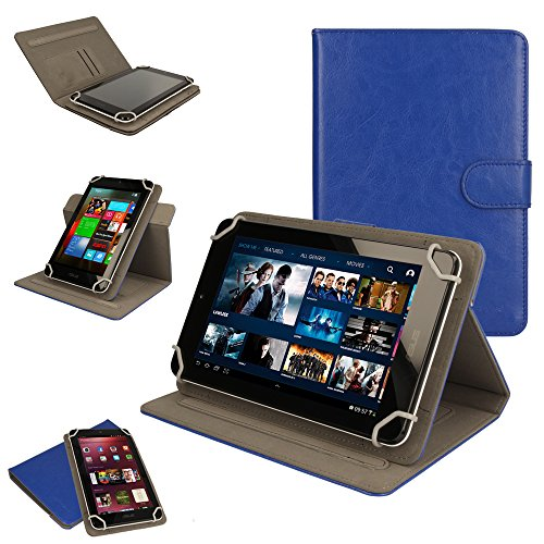 TECHGEAR [Cosmic (8) Universal Case for Acer Iconia One 8 (B1-810) - 360 Degree Rotating & Detachable Holder Case with Viewing stand (Blue)