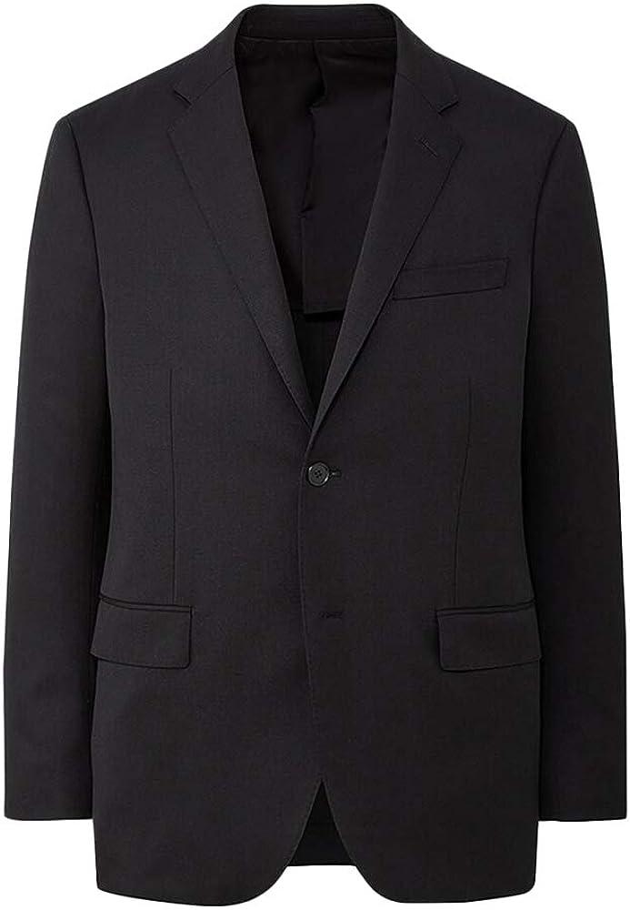 Mens Slim Fit Blazer Casual One Button Business Sport Coat Notched Lapel Lightweight Tuxedo Suit Jacket