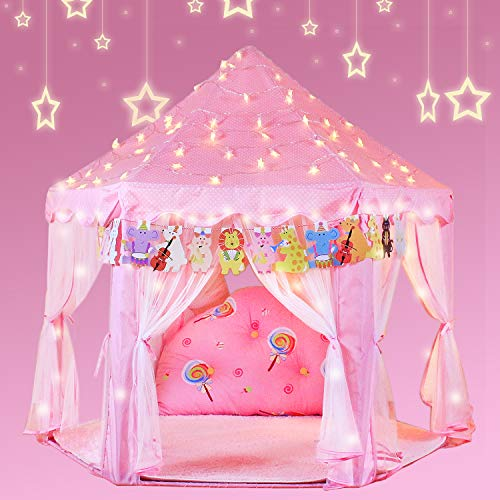 YOOBE Hexagon Princess Castle Play Tienda de Interior para Regalo de niños