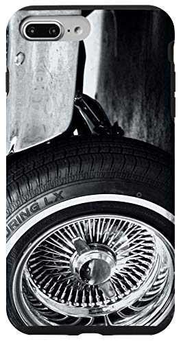 iPhone 7 Plus/8 Plus Lowrider B&W spoke wheel rim art Case