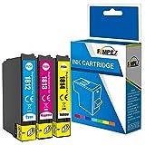 Fimpex Compatible Encre Cartouche Remplacement Pour Epson XP-102 XP-202 XP-205 XP-212 XP-215 XP-225 XP-30 XP-302 XP-305 XP-312 XP-315 XP-322 XP-325 XP-402 XP-405 XP-405WH XP-412 18XL (C/M/Y, 3-Pack)