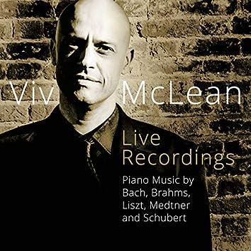 Piano Music by Bach, Brahms, Liszt, Medtner & Schubert (Live)