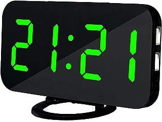 comprar comparacion Lbsel Despertador Llevado EléCtrico De La ExhibicióN, 2 Puertos De Carga del USB, Reloj Despertador Grande del NúMero Digi...