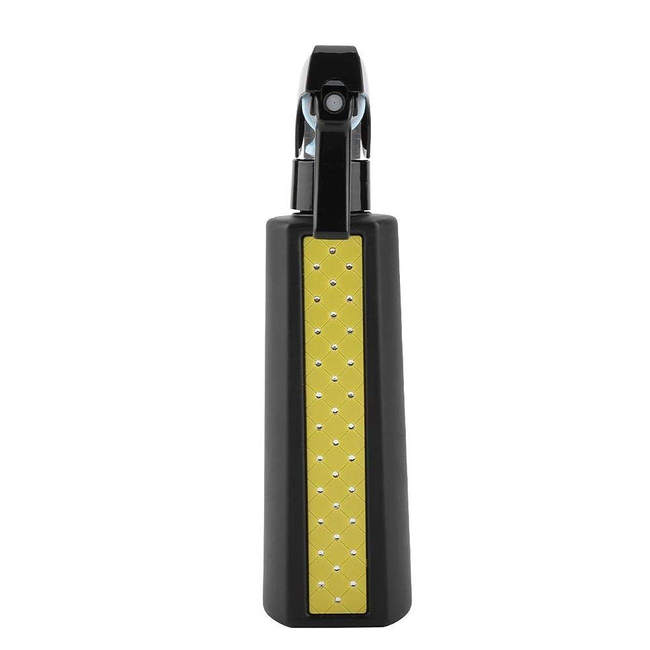 虚栄心ブレース草散水用ボトル, ヘアスプレー300ミリリットル詰め替え用多目的マットヘアスプレーボトル理髪理髪ツール散水缶 (Yellow)