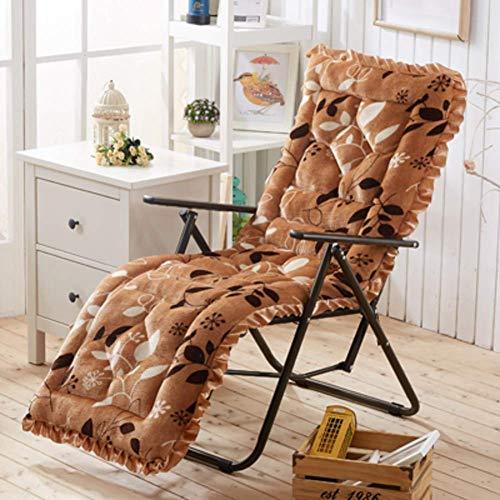 XHNXHN Cojines para mecedora, Felpa Banco Cojín Multifunción Espesar Muebles de Patio Sofá Matt Mat Mimbre Salón Cojines de la Silla - marrón 48x148cm