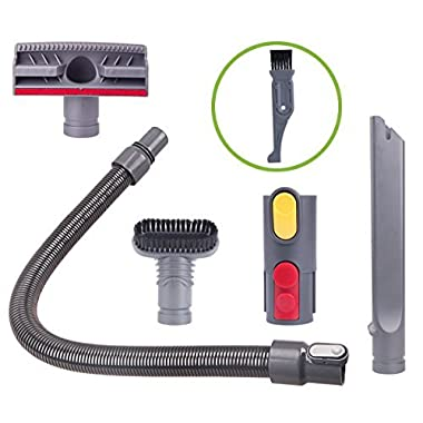 I clean Attachments for Dyson V10,V10 Absolute,V8,V8 Absolute,V6, V7, DC58,DC59, 5 Packs Replacement Handheld Vacuum Cleaner Dyson Hose Parts, Bonus A Free Cleaner Brush