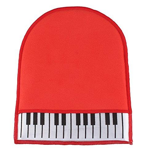 Piano Reinigung Wartung Musikinstrument Teile homyl Piano reinigen Handschuh Duster Reinigungstuch rot
